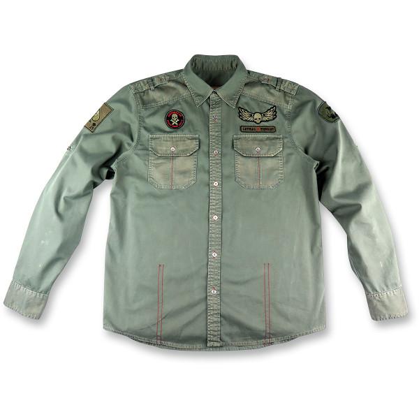 【USA在庫あり】 リーサルスレット Lethal Threat 長袖シャツ Bombs Away グレー XLサイズ 3040-2506 HD店