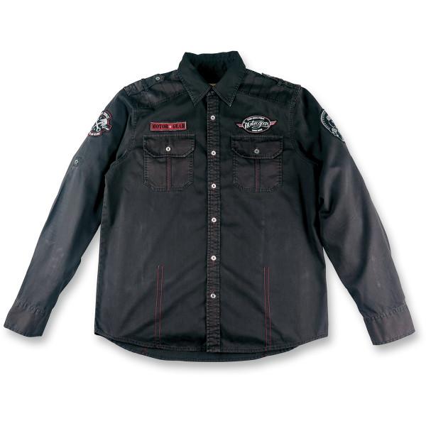 【USA在庫あり】 リーサルスレット Lethal Threat 長袖シャツ Speed Power 黒 Mサイズ 3040-2509 HD店