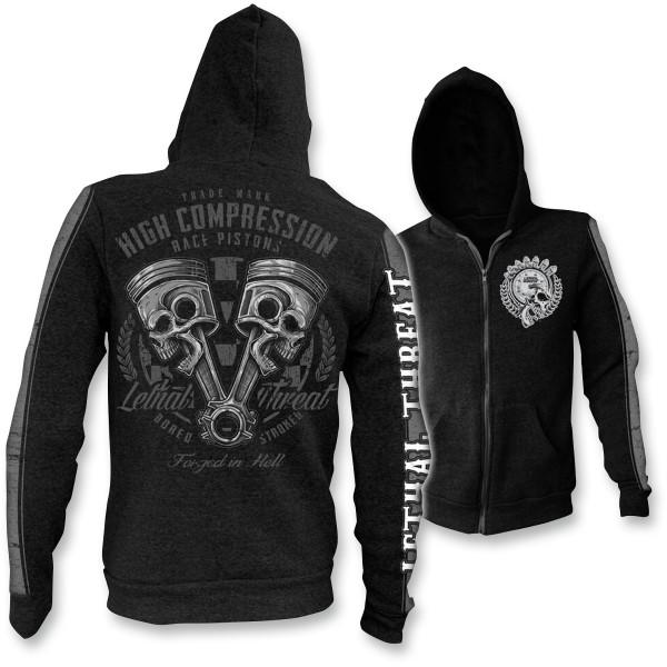 【USA在庫あり】 リーサルスレット Lethal Threat フーディー High Compression Zip-Front 黒 2XLサイズ 3050-3911 HD店