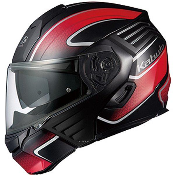 【メーカー在庫あり】 オージーケーカブト OGK KABUTO システムヘルメット KAZAMI エクセヴァ フラットブラックレッド XLサイズ 4966094571726 HD店