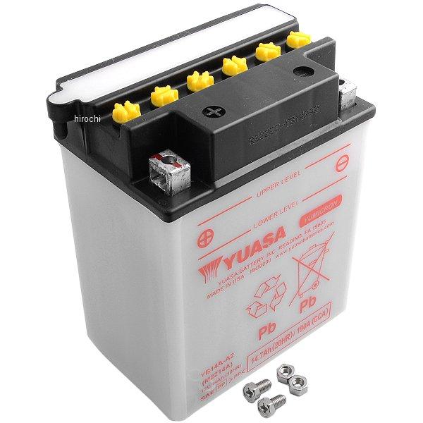 【USA在庫あり】 ユアサ バッテリー 開放型 YB14A-A2 HD店