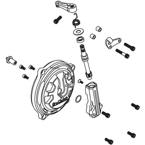 SP武川 乾式クラッチカバー タイプR ワイヤー式 モンキー、モンキーFI、ゴリラ 02-02-0078 HD店