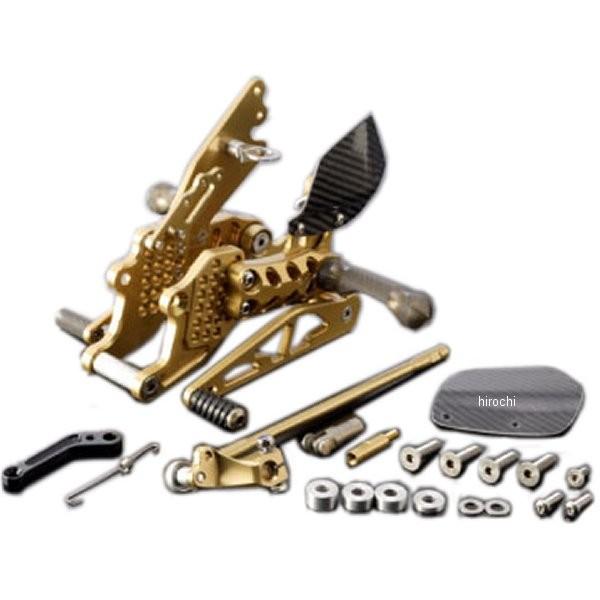 ギルズツーリング GILLES TOOLING バックステップキット AS31GTタイプ 6ポジション調整 06年-17年 ニンジャ ZX-14R、ZZR1400 ゴールド K10G HD店