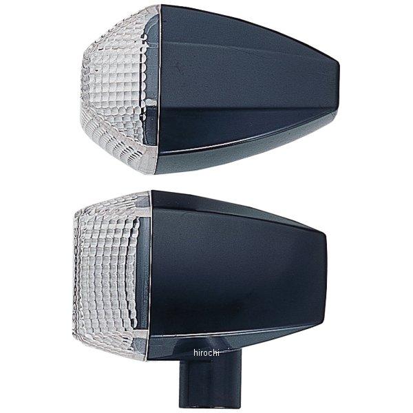 ポッシュ POSH ウインカー 汎用 ユニバーサル ZRタイプ スタンダード シングル球 黒/クリアー 193082-06 HD店