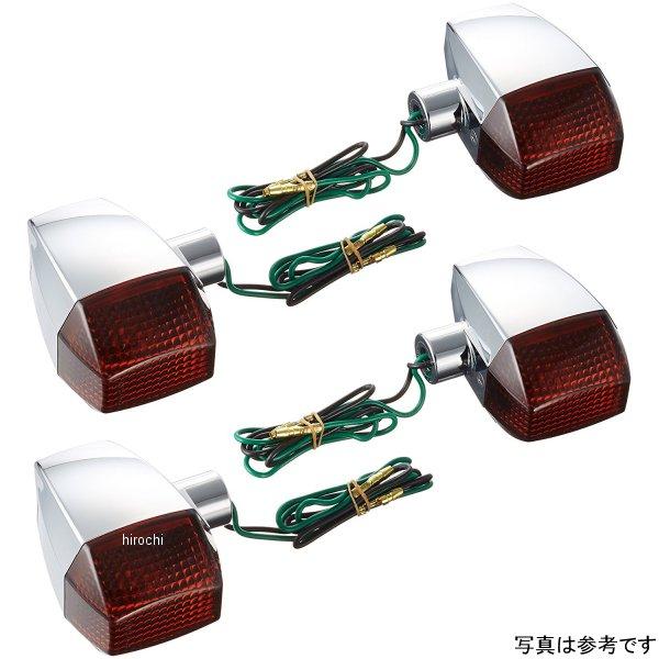 ポッシュ POSH ウインカー 汎用 ユニバーサル ZRタイプ スタンダード シングル球 メッキ/スモーク 193083 HD店
