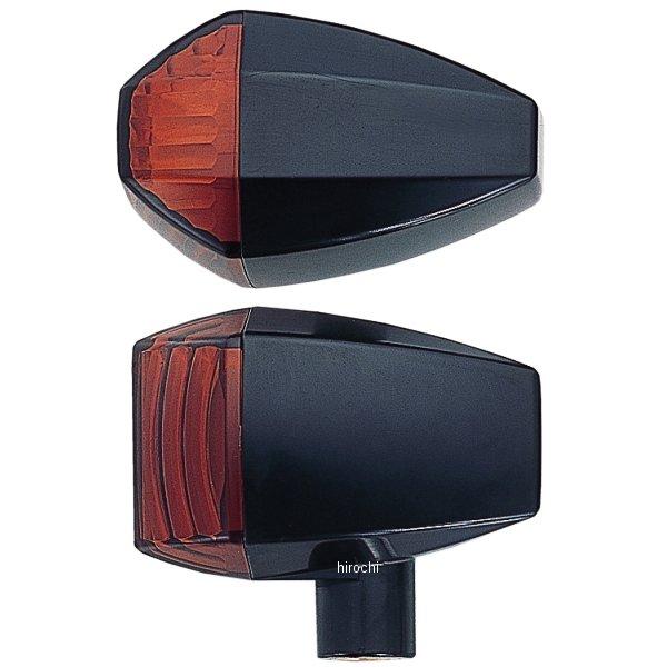 ポッシュ POSH ウインカー 汎用 ユニバーサル ZRタイプ クリスタルカット シングル球 黒/アンバー 193085-06 HD店