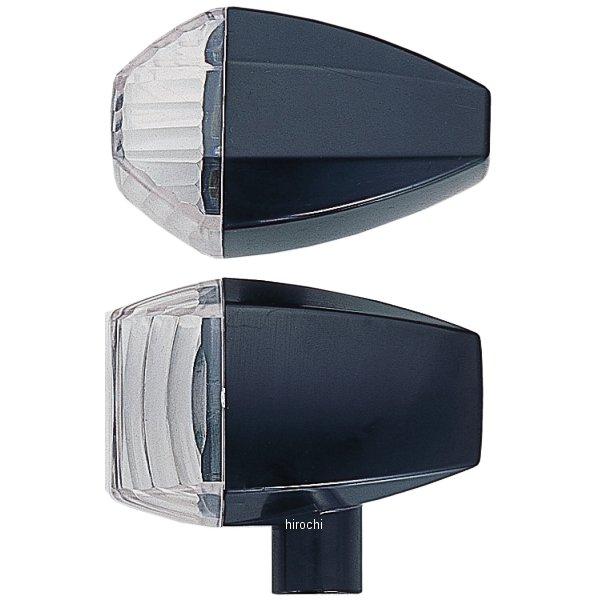 ポッシュ POSH ウインカー 汎用 ユニバーサル ZRタイプ クリスタルカット シングル球 黒/クリアー 193086-06 HD店