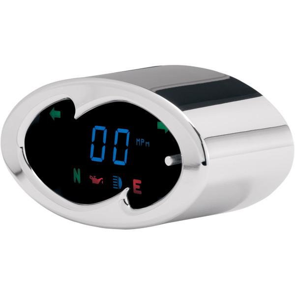 【USA在庫あり】 ダコタデジタル Dakota Digital メーターキット スピードメーター 青LED/クローム ウェーブ 210991 HD