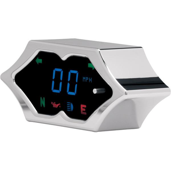 【USA在庫あり】 ダコタデジタル Dakota Digital メーターキット スピードメーター 青LED/クローム スパイク 210992 HD