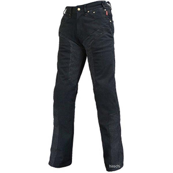 ラフ&ロード 春夏モデル ハーフメッシュストレッチブラックデニムパンツLF 黒 MWサイズ RR7509LFBK2 HD店