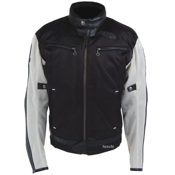 TFJ1801 トゥエンティ・フォー・セブン カスタムレザース 2018年春夏モデル メッシュジャケット アイボリー/黒 Mサイズ TFJ1801-IV-BK-M HD店