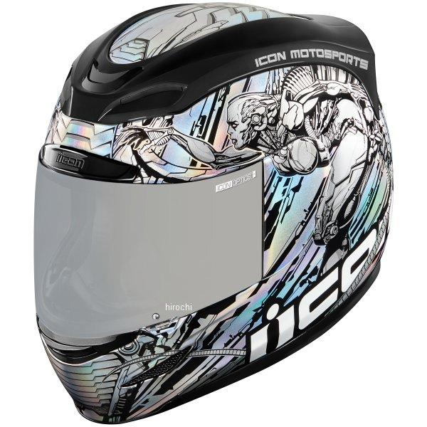 【USA在庫あり】 アイコン ICON フルフェイスヘルメット AIRMADA MECHANICA シルバー XLサイズ(61cm-62cm) 0101-10744 HD店