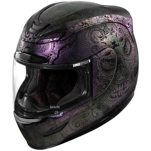 【USA在庫あり】 アイコン ICON フルフェイスヘルメット AIRMADA CHANTILLY OPAL パープル 2XLサイズ(63cm-64cm) 0101-10771 HD店