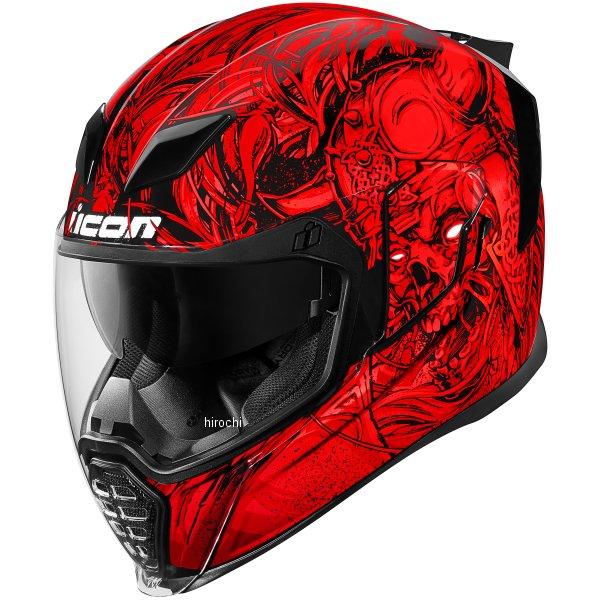 【USA在庫あり】 アイコン ICON フルフェイスヘルメット Airflite Krom 赤 Lサイズ(59cm-60cm) 0101-10822 HD店