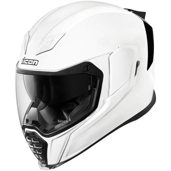 【USA在庫あり】 アイコン ICON フルフェイスヘルメット Airflite Gloss 白 XLサイズ(61cm-62cm) 0101-10865 HD店