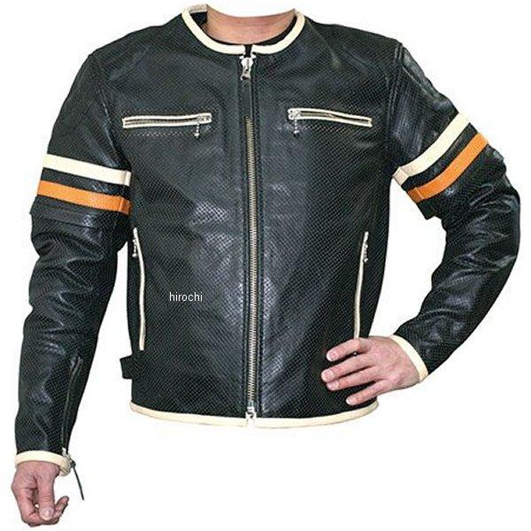 モトフィールド MOTO FIELD 春夏モデル シングルレザージャケット 腕脱着タイプ アイボリー/オレンジ 4Lサイズ MF-LJ016PK HD店