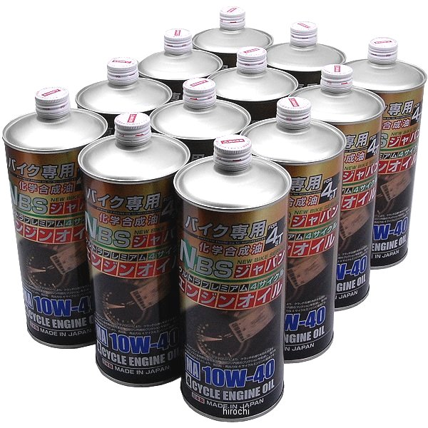 【メーカー在庫あり】 NBS バイクパーツセンター 4サイクルエンジンオイル ウルトラプレミアム 化学合成油 10W-40 1L×12缶入(1箱) 881302 HD店