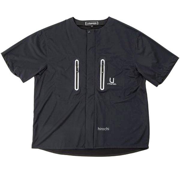 UNK-601 アーバニズム urbanism 春夏モデル ライドテックシャツ 黒 3Lサイズ UNK-601/BK/3L HD店