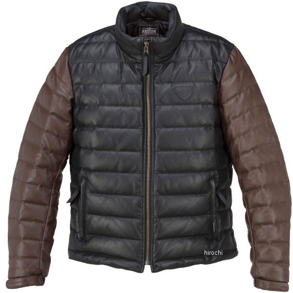1183 カドヤ KADOYA 秋冬モデル 革ジャン シングル オールレザーダウンジャケット 黒/ブラウン Lサイズ 1183-0/BK/BRL HD店