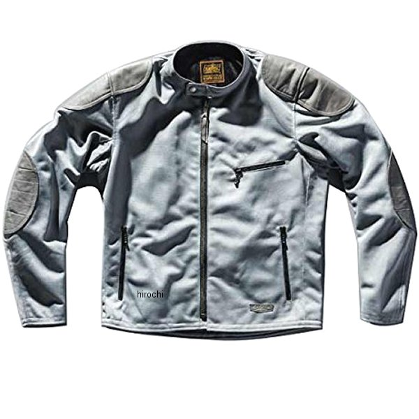 カドヤ KADOYA 春夏モデル メッシュライダースジャケット OLD MANX グレー LLサイズ 6228-0 HD店