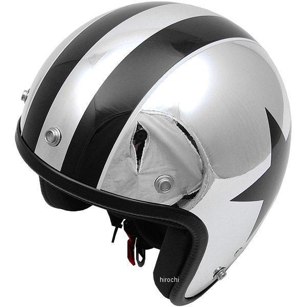 ナナニージャム 72JAM ジェットヘルメット カスタムペイントJAM CHROMES TWIN STAR メッキ フリーサイズ(57-60cm未満) JCP-10 HD店