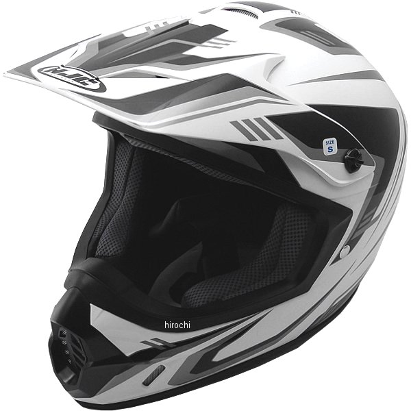 エイチジェイシー HJC オフロードヘルメット CS-MXエッジ 白/黒 Sサイズ(55-56cm) HJH123WH01S HD店
