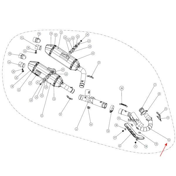 1860-0819 アクラポビッチ AKRAPOVIC リペアヘッダー レーシングライン 14年以降 CRF250R ステンレス H-H2MR8 HD店