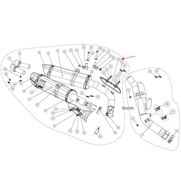 アクラポビッチ AKRAPOVIC リペア用ヒートシールド 左側 09年-11年 YZF-R1 カーボン P-HSY10R5L HD店