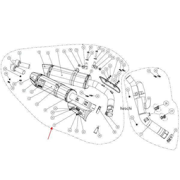 アクラポビッチ AKRAPOVIC リペア用ヒートシールド 右側 09年-11年 YZF-R1 カーボン P-HSY10R5R HD店
