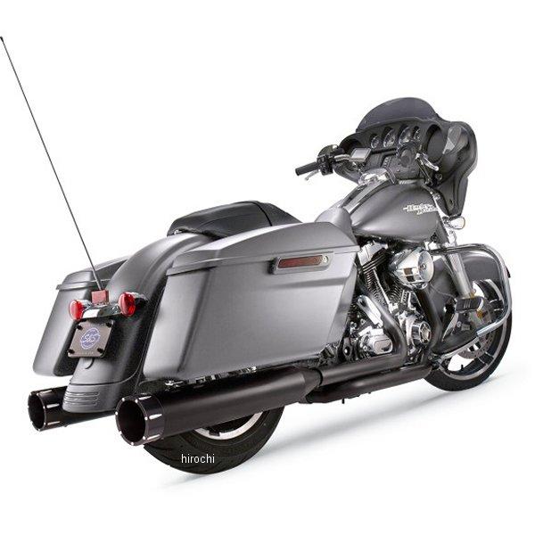 【メーカー在庫あり】 S&Sサイクル S&S Cycle 4.5インチ スリップオンマフラー 17年以降 黒/黒 Tracer 550-0670 HD店