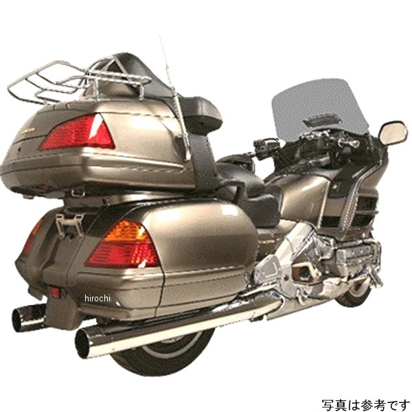 【USA在庫あり】 ラッシュ RUSH スリップオンマフラー 4インチ チップ無し 2インチバッフル 01年-16年 GL1800、F6B クローム 625355 HD
