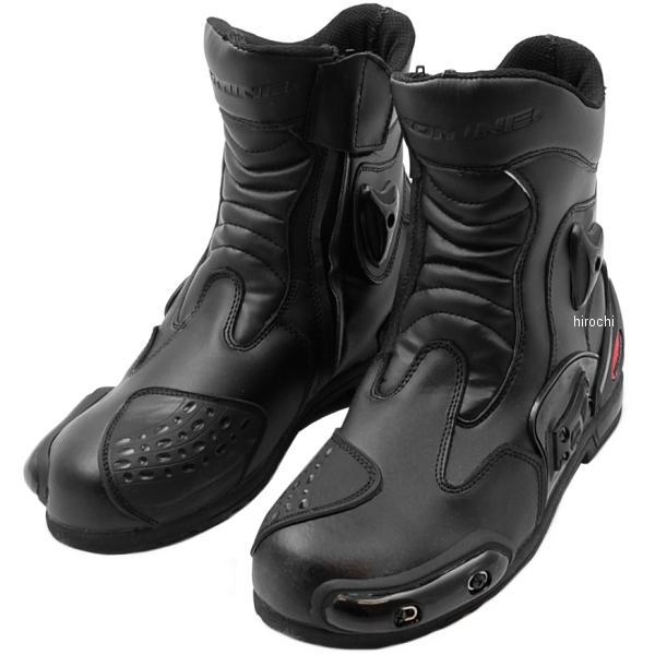 【メーカー在庫あり】 BK-067 コミネ KOMINE プロテクトスポーツショートライディングブーツ 黒 25.5cm 4560163774515 HD店