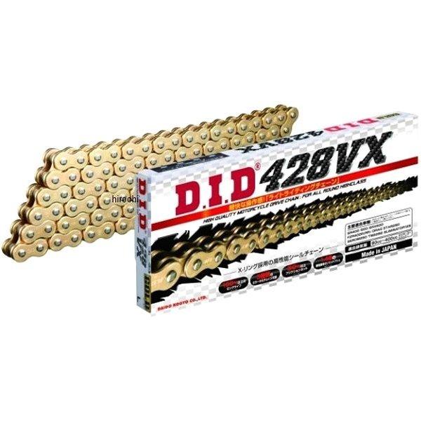 4525516378314 DID 大同工業 チェーン 428VX シリーズ ゴールド (132L) クリップ DID 428VX-132L FJ(クリップ) GOLD HD店