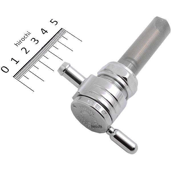 【メーカー在庫あり】 ゴランプロダクツ Golan Products フューエル ペットコック 22mm ストレート クローム 0705-0022 HD