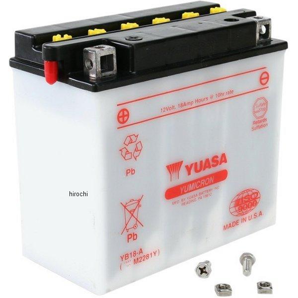【USA在庫あり】 ユアサ YUASA バッテリー 開放型 YB18-A 581096 HD店