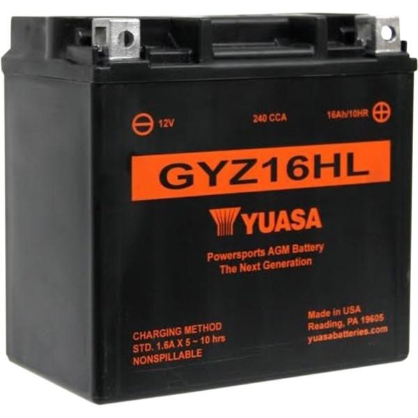 【USA在庫あり】 GYZ16HLUSA ユアサ YUASA バッテリー GYZ メンテナンスフリー 04年以降 XL(最高級版) 581367 HD店