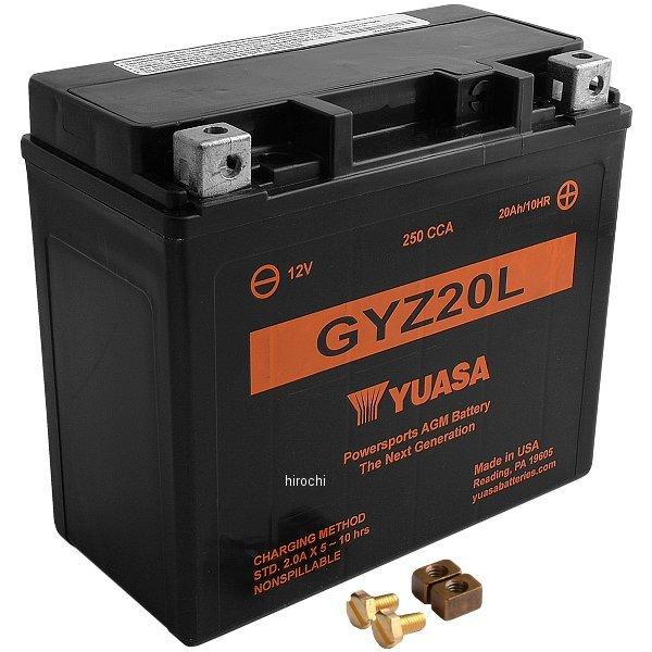 【USA在庫あり】 ユアサ YUASA GYZ AGM MFバッテリー 密閉型 12V GYZ20L 581370 HD店