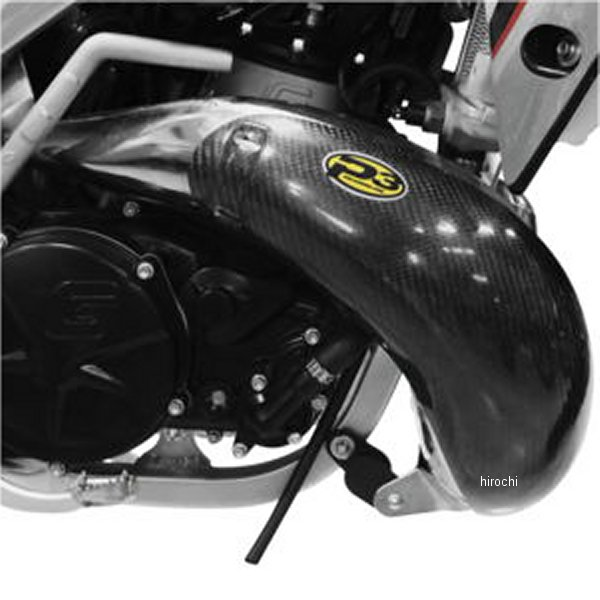 【USA在庫あり】 P3 Carbon P3カーボン マフラー パイプガード カーボンファイバー 06年-07年 GASGAS EC 300、EC 250 黒 306003 HD店
