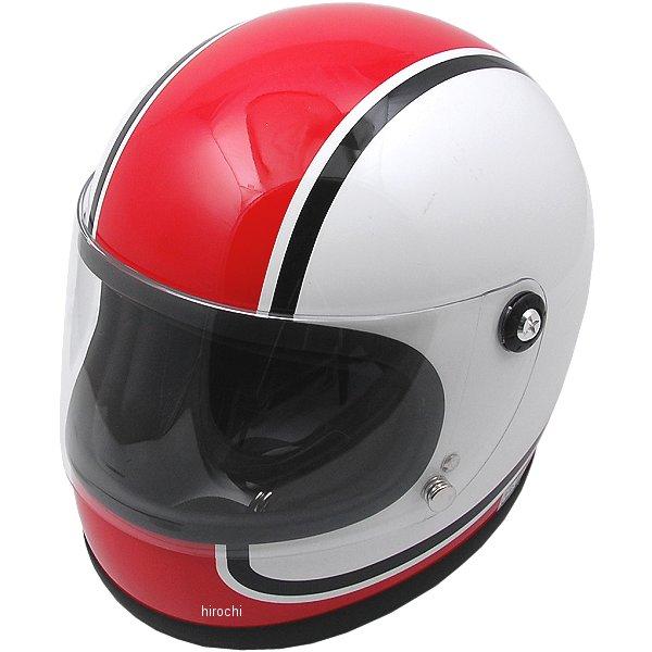【メーカー在庫あり】 山城 ヘルメット ニューレトロフルフェイス750 赤 Mサイズ YKH002/750 HD店