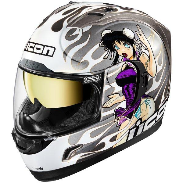 【USA在庫あり】 アイコン ICON フルフェイスヘルメット Alliance GT DL18 シルバー XLサイズ (61cm-62cm) 0101-11194 HD店