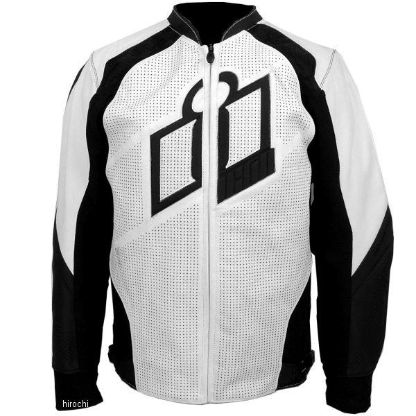 【USA在庫あり】 アイコン ICON レザージャケット ハイパースポーツ 白 Sサイズ 2810-2566 HD店