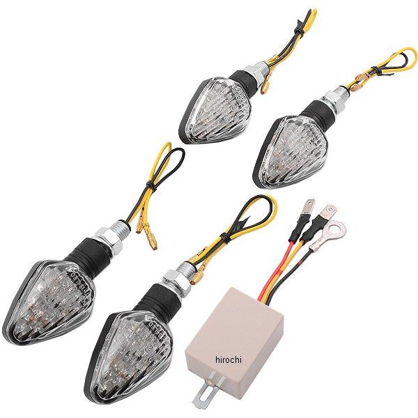 【メーカー在庫あり】 キジマ LEDウインカーランプ つや消し黒/クリア 樹脂 (4個入り) リレー付き 219-5132 HD店