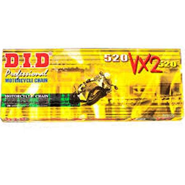 【USA在庫あり】 DID 大同工業 チェーン 520VX2 ナチュラル 104L 軽圧入クリップ 122720 HD店
