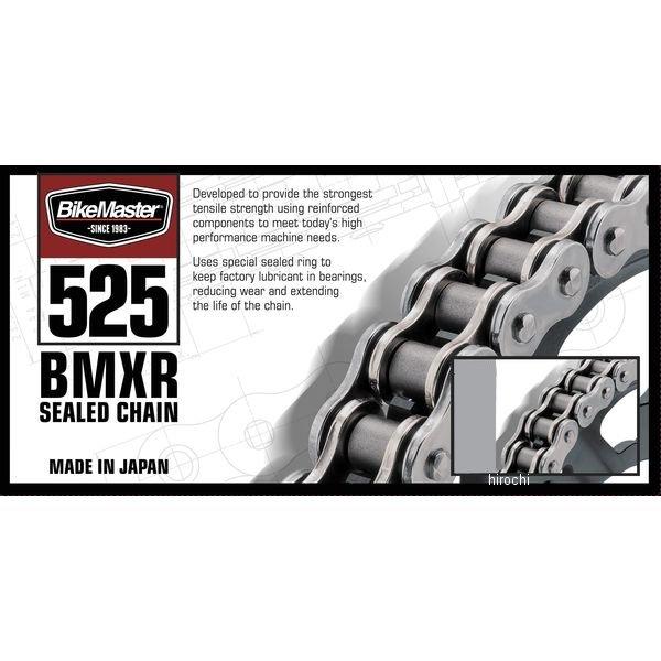 【USA在庫あり】 バイクマスター BikeMaster チェーン 525BMXR シールチェーン 黒/ゴールド 130L カシメ 197354 HD店