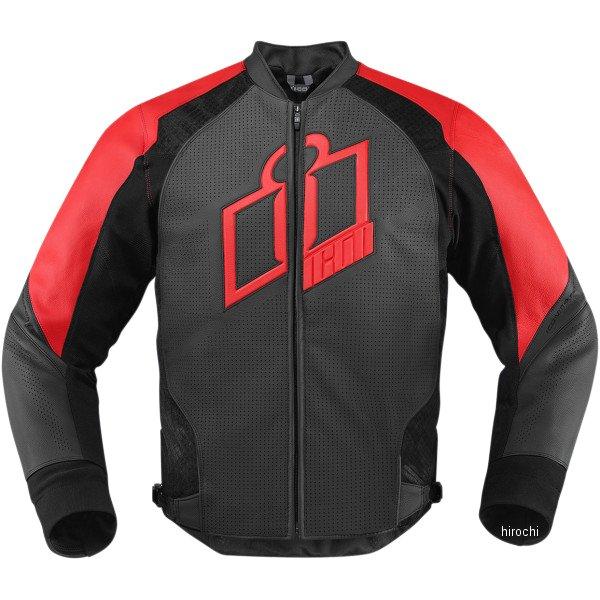 【USA在庫あり】 アイコン ICON レザージャケット ハイパースポーツ 赤 XLサイズ 2810-2574 HD店