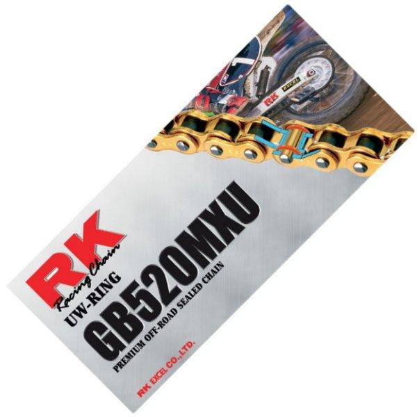 【USA在庫あり】 アールケー RK チェーン 520MXU プロヘビーデューティー ゴールド 120L 180149 HD店