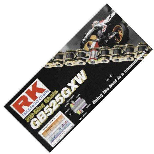 【USA在庫あり】 アールケー RK チェーン 525GXW XW-リング ゴールド 120L 180645 HD店