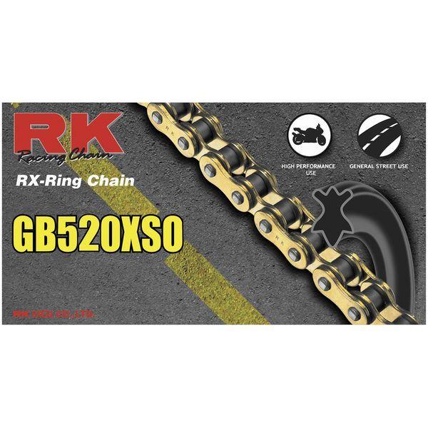 【USA在庫あり】 アールケー RK チェーン 520XSO RX-リング ゴールド 116L 180654 HD店