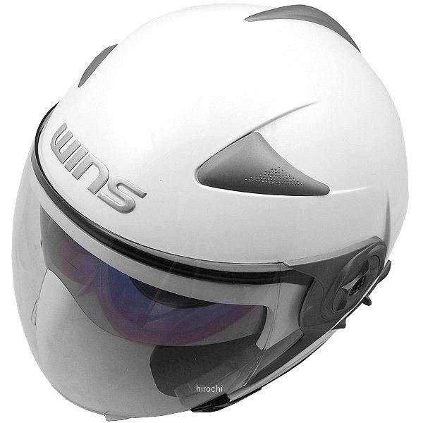 【メーカー在庫あり】 ウインズ WINS ジェットヘルメット MODIFY JET ソリッド パールホワイト Lサイズ(58-59cm) 4560385766343 HD店