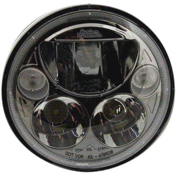 【USA在庫あり】 カスタムダイナミクス LED ヘッドライト 5.75インチ TruBEAM H4 5800K 黒 2001-1258 HD店